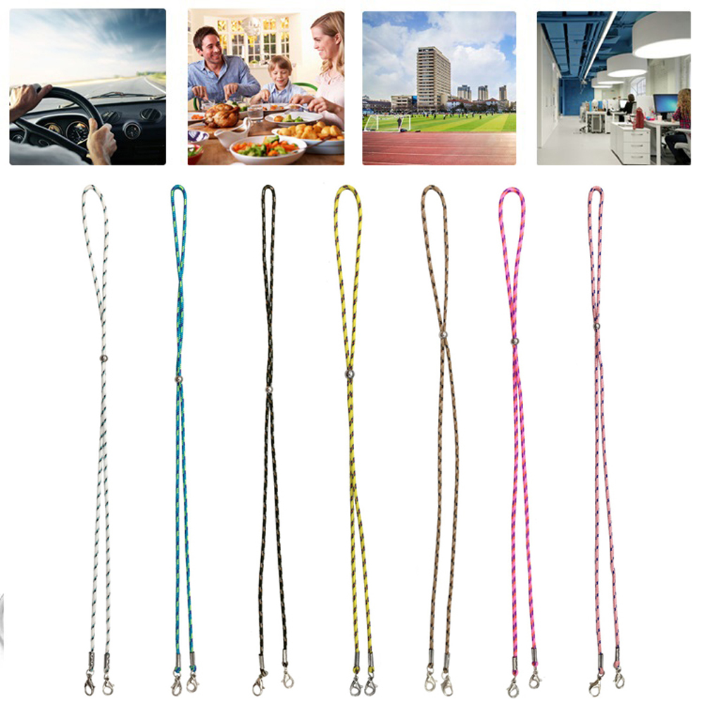MXBEAUTY Neck Straps Face Mask Necklace Eyeglass Lanyard Glasses Rope Reading Glasses Chain Hold Straps Men Fashion Metal Colorful Rope...