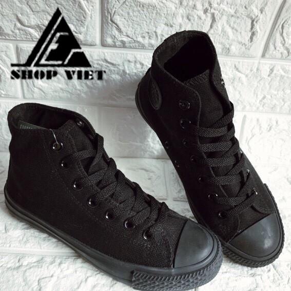 Giày Converse full đen full trắng VNXK