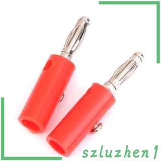 [Hi-tech] 4mm Insulated Banana Plugs Jack Connectors New 10Pcs Red+Black