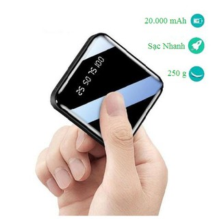 Sạc dự phòng mini 20.000 mAh , sạc được cho 2 lần điện thoại, tương thích với các dòng điện thoại thumbnail