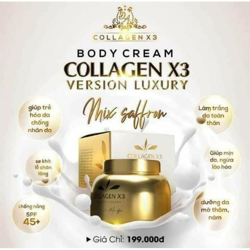 [CAM KẾT CHÍNH HÃNG ] KEM BODY COLLAGEN X3 ĐÔNG ANH- body luxury
