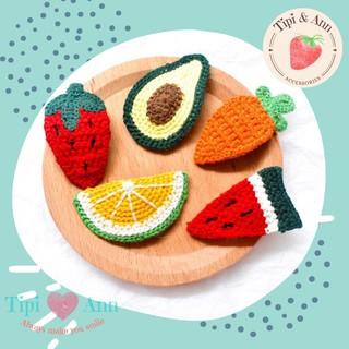 Kẹp len hình trái cây