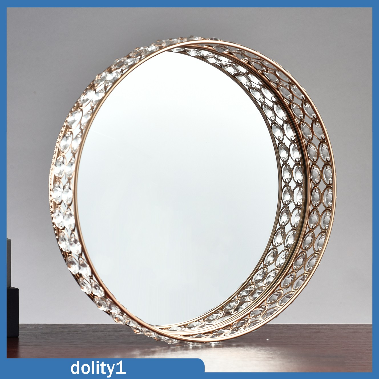 [DOLITY1] Crystal Cosmetic Vanity Tray Perfume Makeup Holder Box Dresser Home Decor