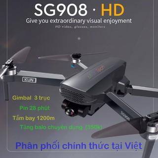 flycam SG908 gimbal 3 trục bay 28 phút chuẩn camera 4k