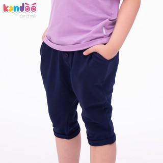 Quần Short bé trai KANDOO màu tím than, 100% cotton cao cấp mềm mịn, thoáng mát, an toàn cho bé - DBSO1702