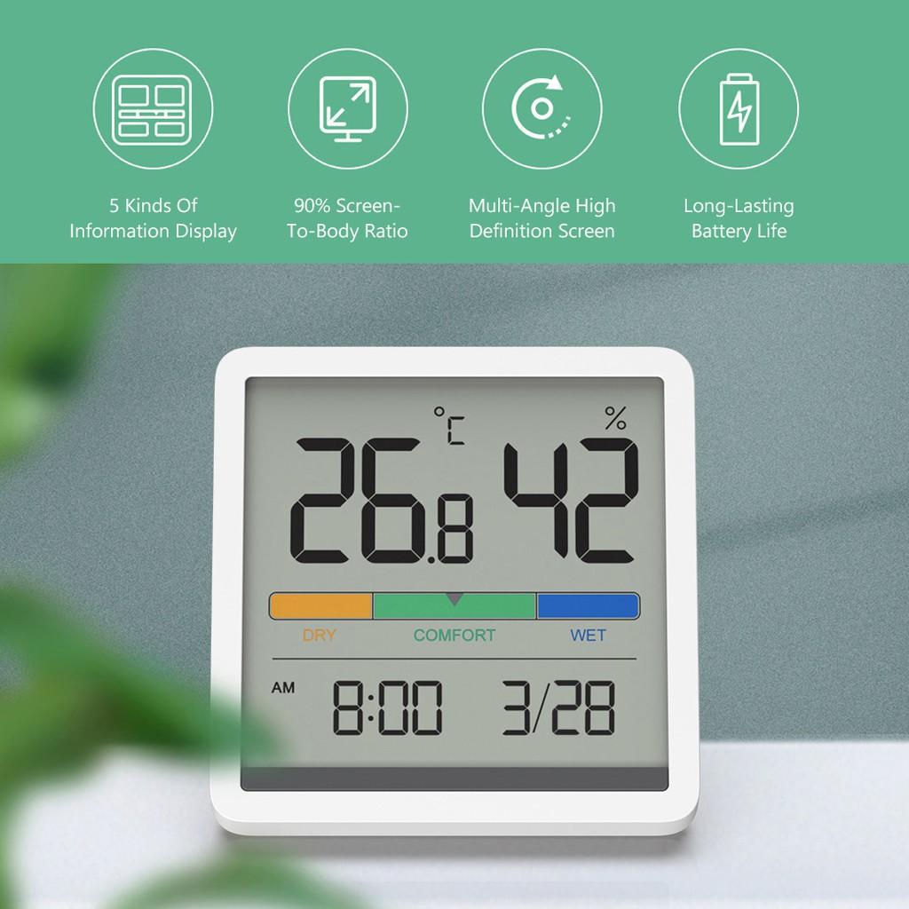 ▦Đồng Hồ Xiaomi Đo Nhiệt Độ Và Ẩm Không Ồn 3.34 Inch Với Màn Hình LCD Lớn
