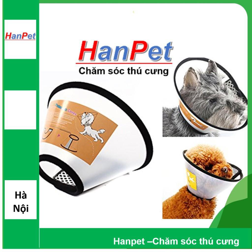 [Lấy mã giảm thêm 30%]Vòng chống liếm cho chó mèo Số 6 Loa chống cắn chó mèo 3-6kg (hanpet loa 6)loa5
