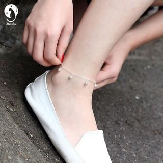 Hình ảnh [Mã FASHIONMON194 giảm 10K đơn 20K] Lắc chân nữ chuông lắc chân bạc xi - miêu bạc-5