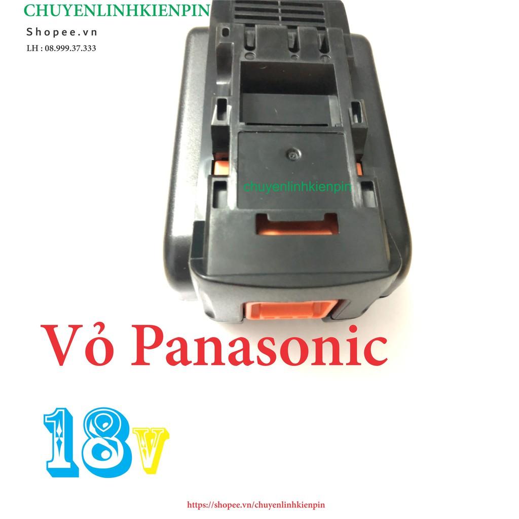 Vỏ pin Panasonic-Kèm mạch 18V, 2 hàng cell, nhận sạc zin hệ 80 (BL64)
