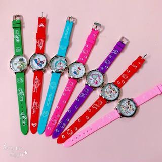 Đồng hồ trẻ em hoạt hình nhiều kiểu nhiều màu sắc