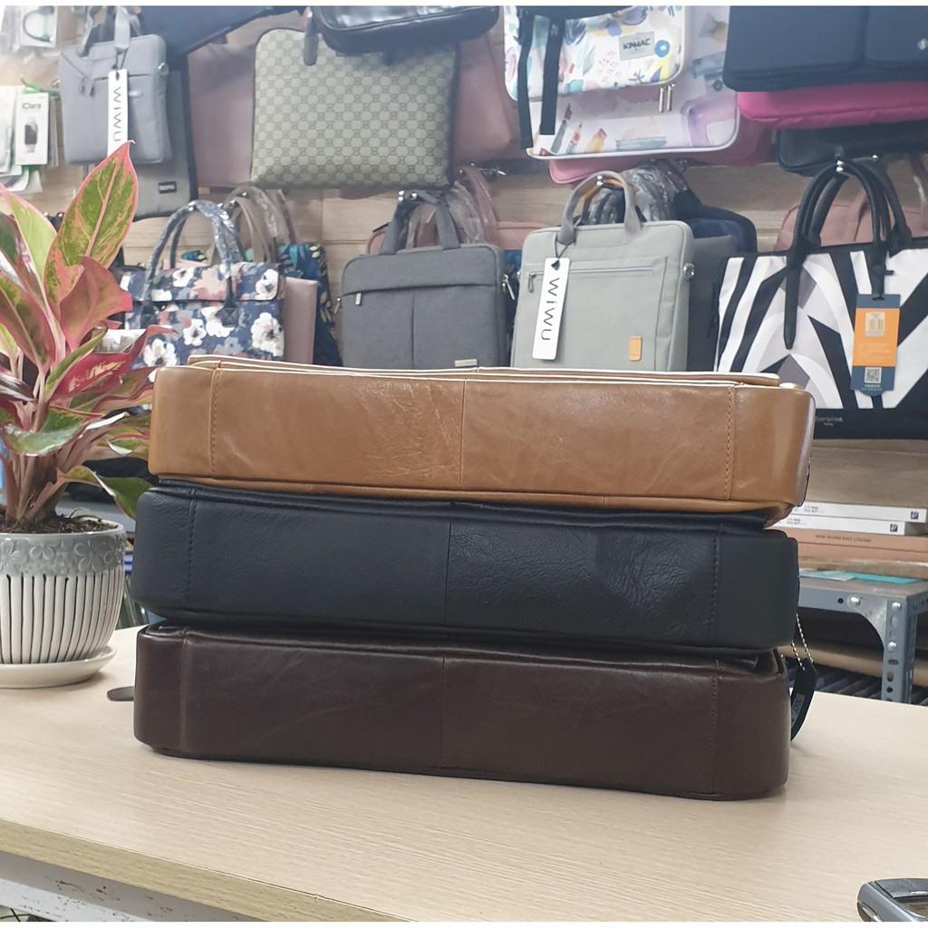 [ BH 12 Tháng] Túi Da Thật Đựng Máy 13.3 inch Đi Công Tác