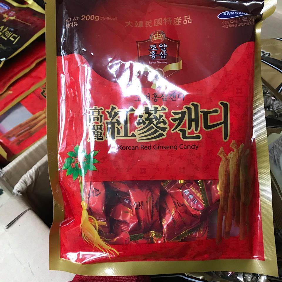 25 gói kẹo sâm 200g