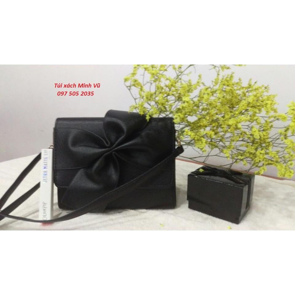Túi xách nữ nơ màu đen
