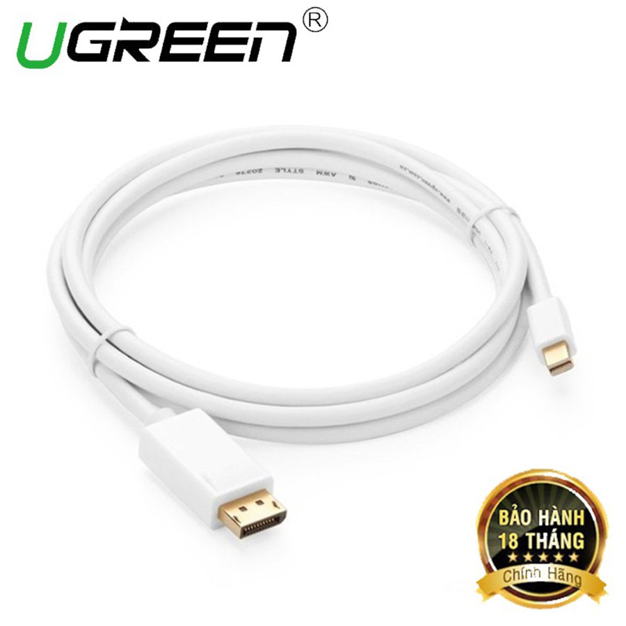 Cáp chuyển Mini DisplayPort to Displayport Ugreen 10476 dài 1,5M chính hãng - HapuStore