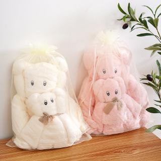 Khăn Tắm Vải Lông Cừu San Hô 35×75 70×140