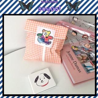 Ins Packaging Simple Cartoon Baking Packaging Greaseproof Paper Bag Candy Nougat Cookie Paper Bag OUYOU