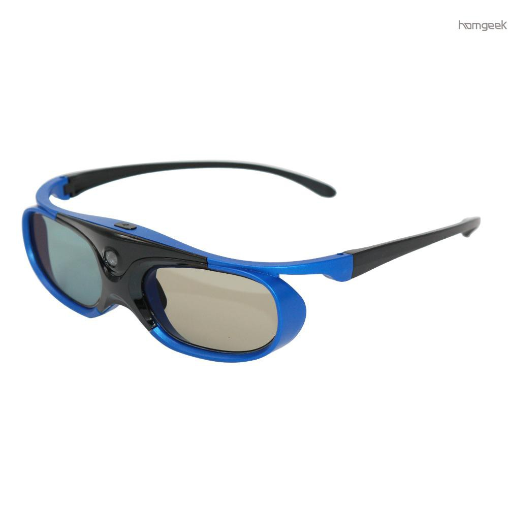 H&G DLP Link 3D Glasses Active Shutter Projector Glasses Rechargeable for All DLP-Link 3D Projectors Compatible with Optoma Acer BenQ...