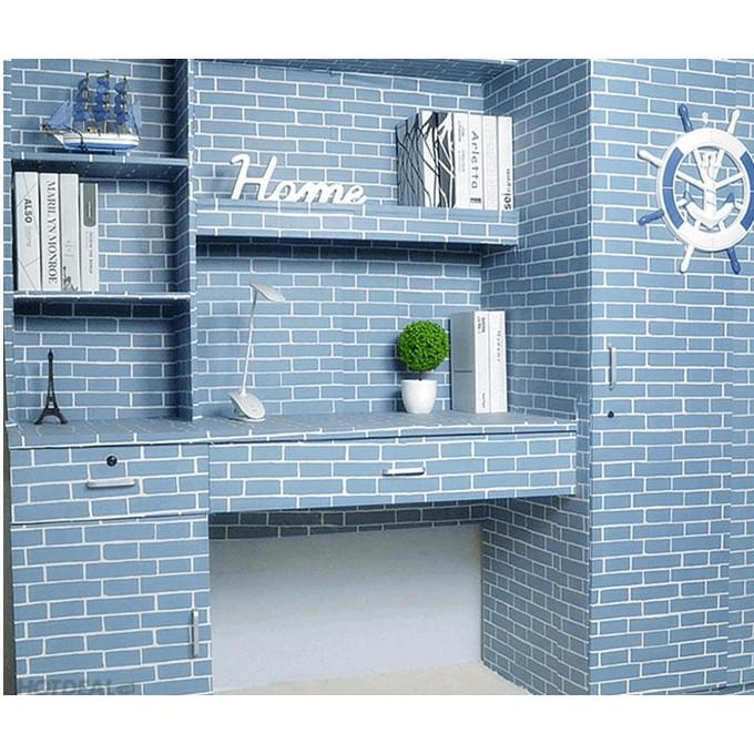 Combo giấy dán tường gạch xanh 100 kèm rèm cửa xanh dương - 3015919 , 891101988 , 322_891101988 , 1225000 , Combo-giay-dan-tuong-gach-xanh-100-kem-rem-cua-xanh-duong-322_891101988 , shopee.vn , Combo giấy dán tường gạch xanh 100 kèm rèm cửa xanh dương