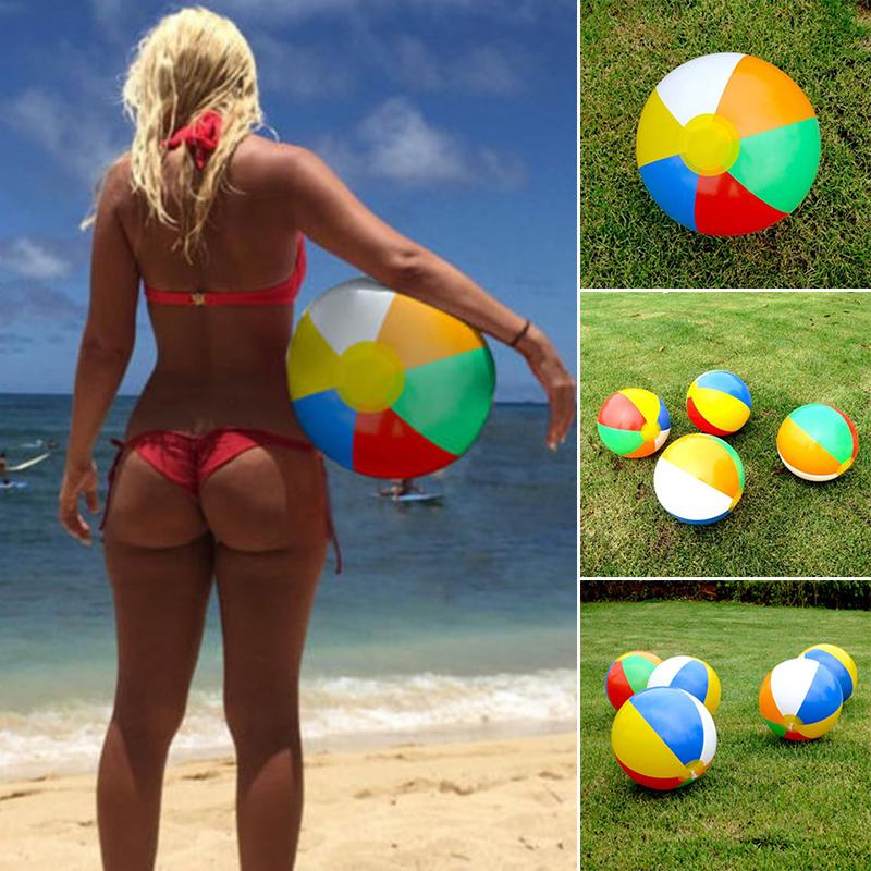 1x Inflatable Blowup Panel Beach Ball 30cm Holiday Party Swimming Garden Toy Hot