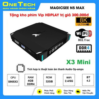 TV Box X3 MINI Ram 4GB DDR4 Rom 32GB Amlogic S905X3 Android 9.0 – X3 MINI 4+32G