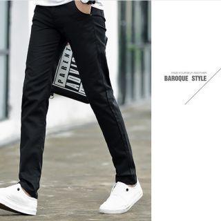 Quần kaki nam Hàn Quốc màu đen