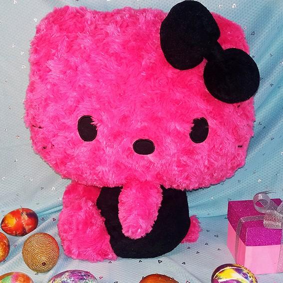[SALE GIÁ SỐC] XẢ DỌN KHO – Gấu Bông Hello Kitty Hàng Ngoại Nhập Đen Hồng Độc Đáo, Hiếm có – 35cm
