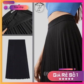 Chân váy xếp ly dáng dài hot trend hè thu