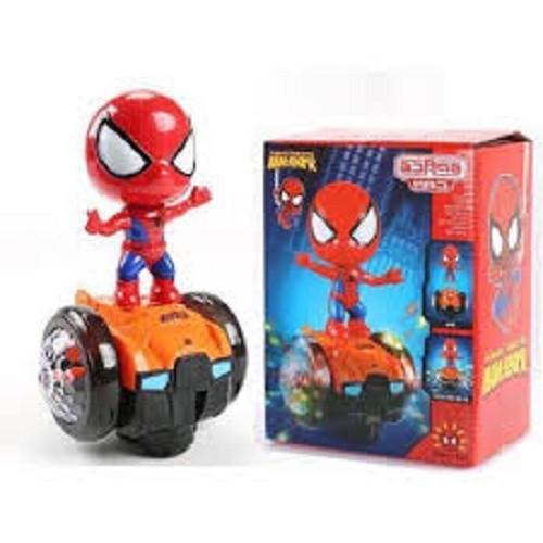 Bộ đồ chơi người nhện thăng bằng, spider biết đi phát nhạc, do choi nguoi nhen (kèm pin)