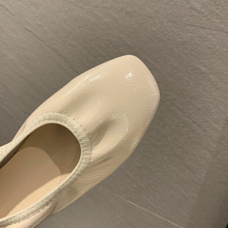 Giày Búp Bê Mũi Vuông Xinh Xắn Dành Cho Nữ