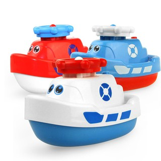 Electric Boat Model Jet Boat Water Spray Navigation Ship Kid Bathing Playing Toy