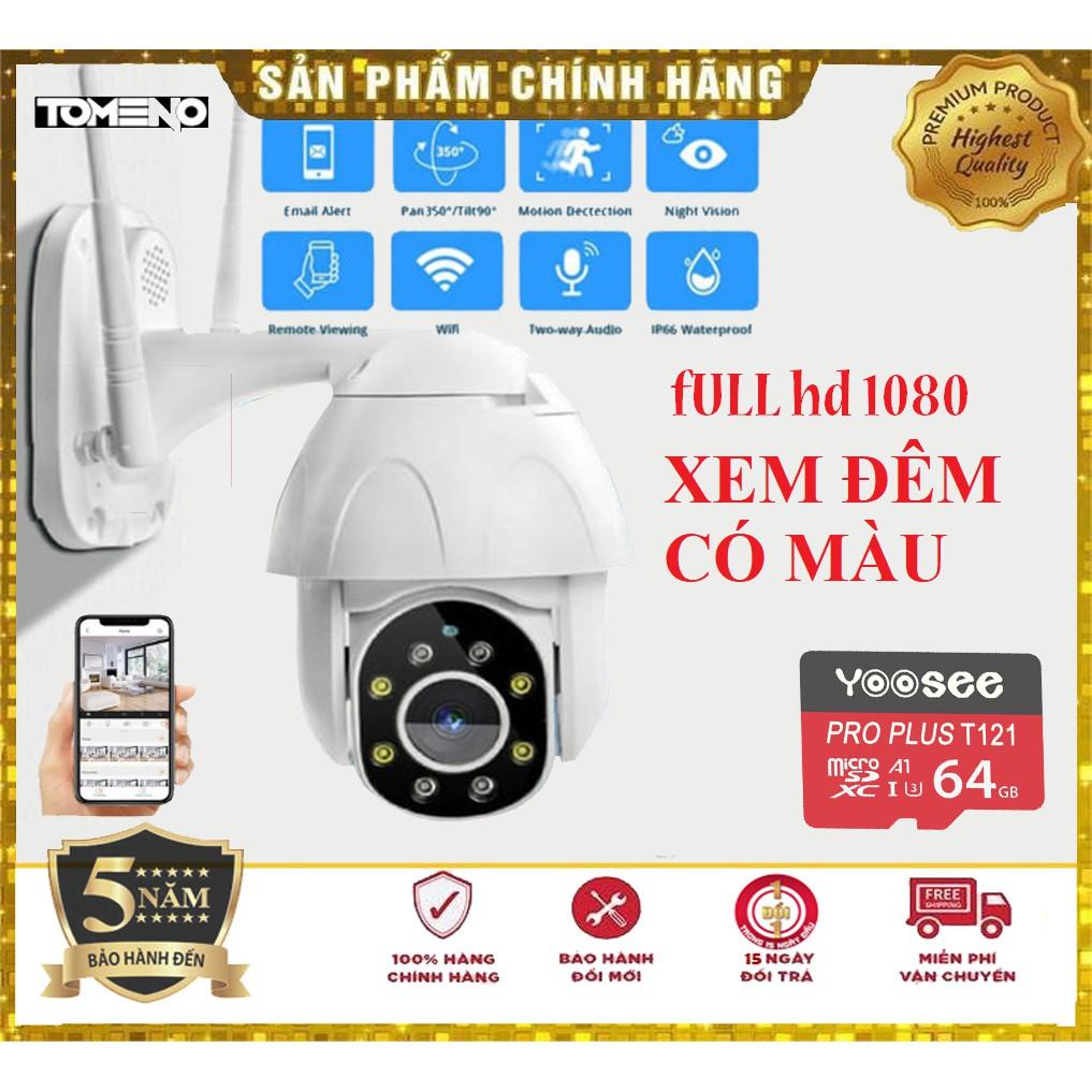 Camera IP Yoosee Ngoài Trời PTZ 3.0 Full HD xem đêm có màu-chống nước-Xoay 360 Bảo hành 5 năm lỗi đổi mới trong 15 ngày