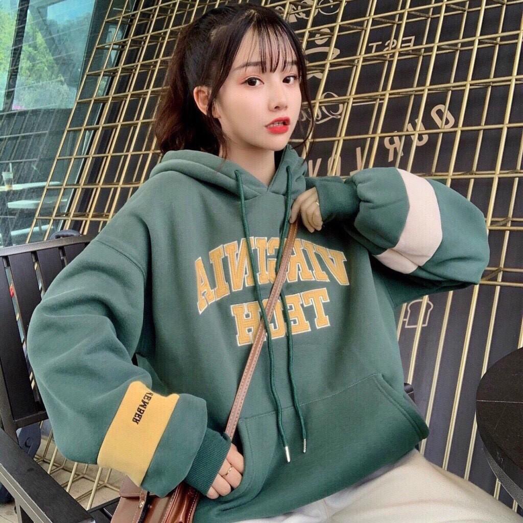 Áo hoodie nữ, áo hoodie nam, họa tiết chữ TECH , áo hoodí siêu hot, thời trang thu đông