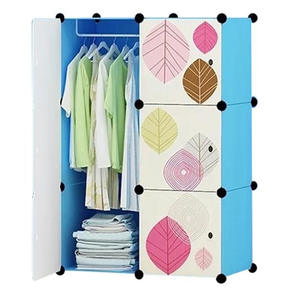 Tủ nhựa ghép tủ nhựa đựng quần áo đa năng tâm house đủ ngăn 6 ô