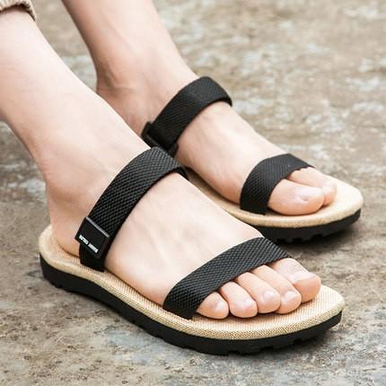 (Hàng order) Dép nam sandal quai ngang đơn giản, trẻ trung