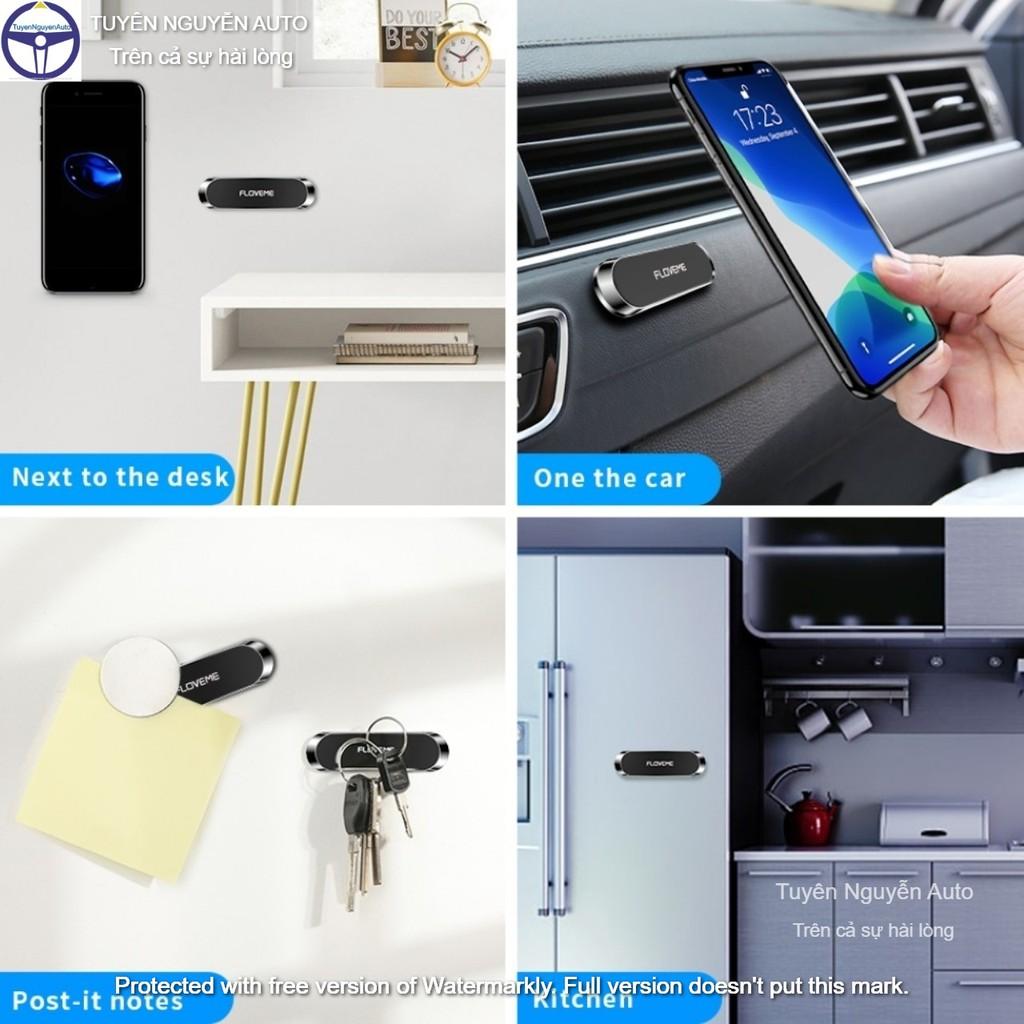 Miếng dán kim loại mặt lưng điện thoại dùng cho đế hít giá đỡ nam châm từ tính trên ô tô xe hơi size 35mm hiệu Floveme