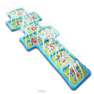 Accessories Children Courtyard Number Outdoor Playing Hopscotch Inflatable Sprinkle Water Game Mat