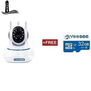 [Chuẩn 3 râu, thế hệ mới] Camera IP Wifi Yoosee 3 Râu HD720P 11 đèn hồng ngoại đàm thoại 2 chiều