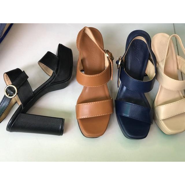 Sandal cao 12cm đúp trước 5cm