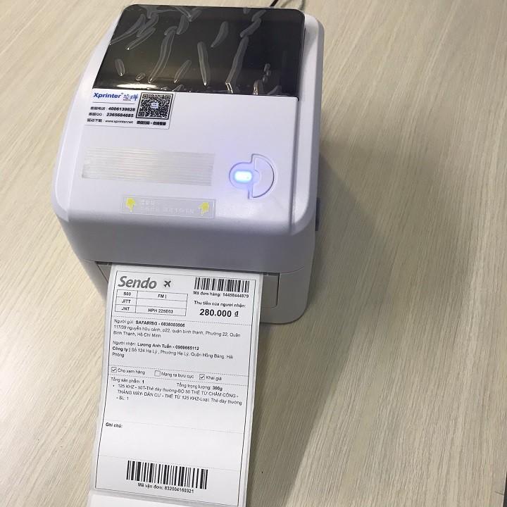 Máy in Xprinte XP-420BM ( USB + LAN) in đơn hàng, tem nhãn vận chuyển bằng điện thoại, máy tính, Macbook qua Wifi LAN