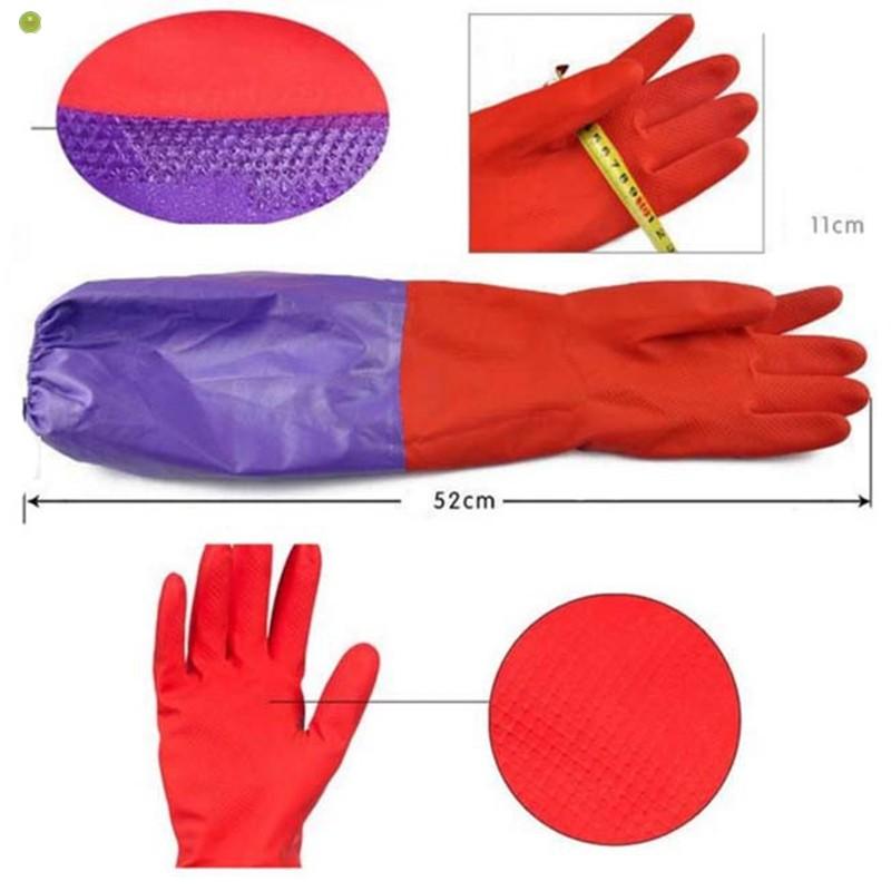 Găng tay cao su lót nỉ rửa bátGiá Tốt Cho Mọi Nhà