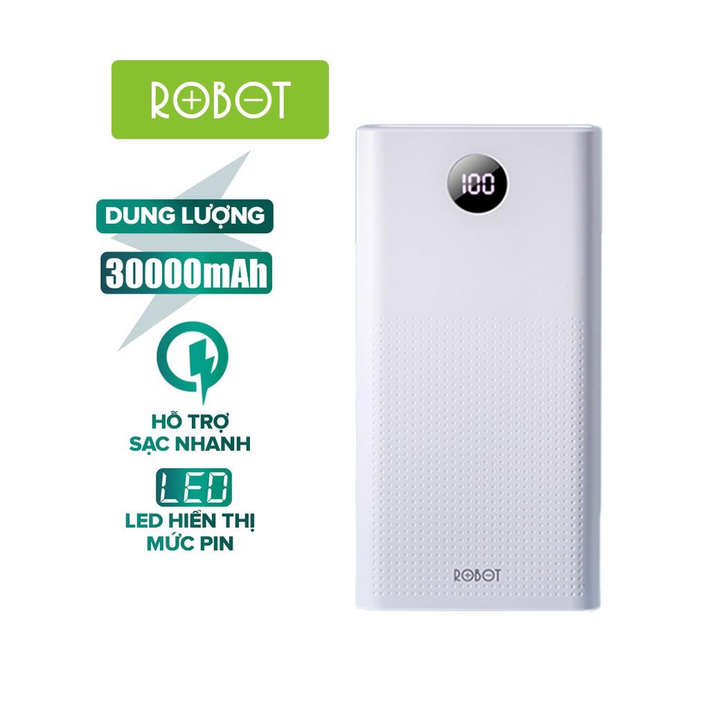 Pin Sạc Dự Phòng 30000mAh ROBOT RT30 Sạc Nhanh PD/QC 3.0 22.5W 5A - 2 Input & 3 Output