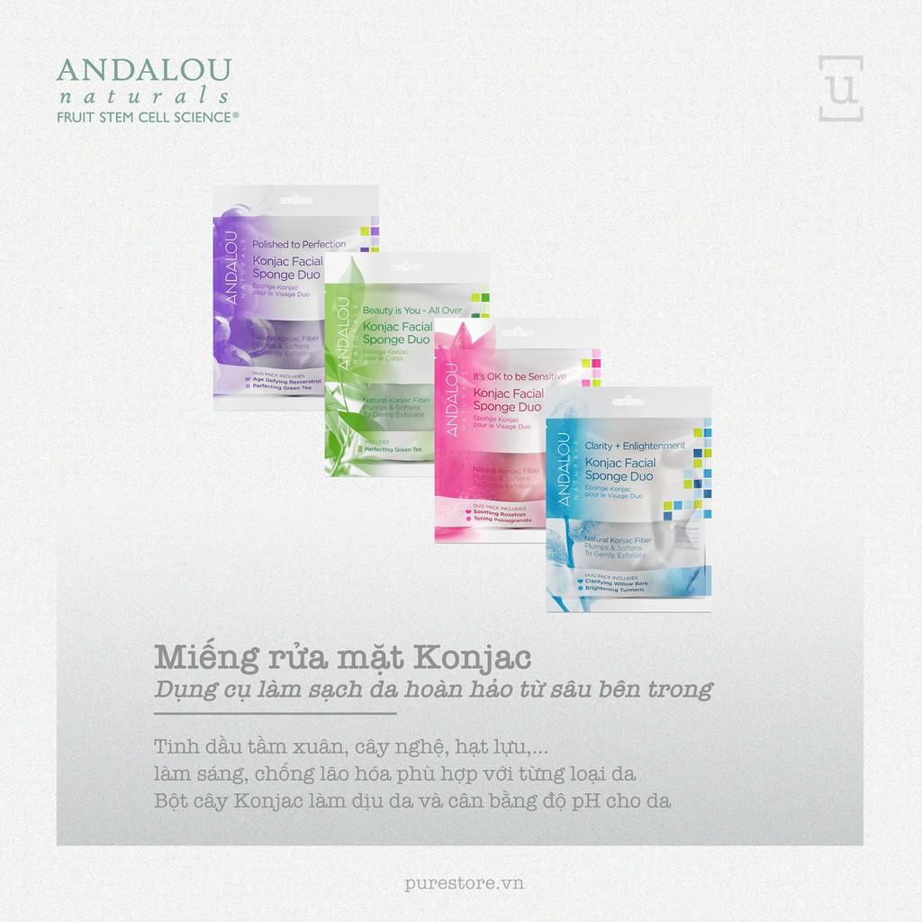 Miếng rửa mặt konjac - Andalou Naturals