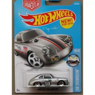 Ô tô mô hình tỉ lệ 1:64 Hot Wheels Porsche 356A Outlaw ( Màu Xám )