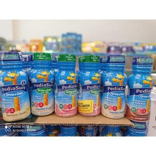 Thùng 24 chai Sữa Pediasure nước Vani DHA, Dâu DHA, Fiber 237ml Mỹ Date mới