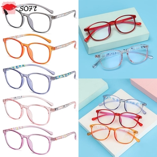 SOFTNESS Children Boys Girls Kids Glasses Portable Ultra Light Frame Comfortable Eyeglasses TR90 Online Classes Fashion Computer Eye Protection Anti-blue Light/Multicolor