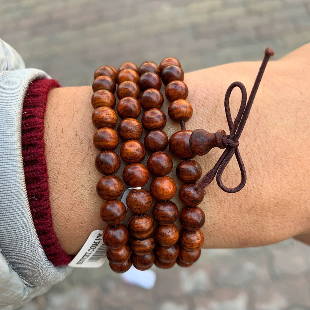 Vòng tay hạt gỗ hương loại đeo tay nam nữ loại 1.8mm