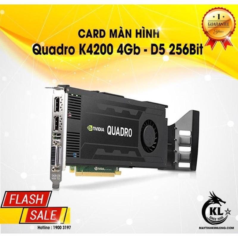 Card Đồ Hoạ NVIDIA Quadro K4200 4Gb 256Bit - Tháo Máy - Nguyên Zin