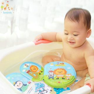Sunny☀Baby Toys Bath Cloth Books Waterproof Kids Early Learning with BB Device