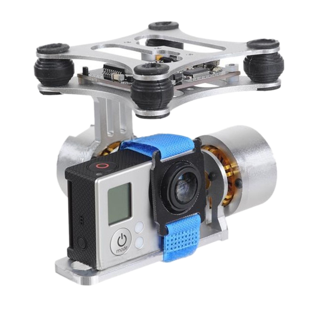 2-Axis PTZ Control For RC Drone Multifunction Gimbal Stabilizer CNC Brushless Aluminum Alloy Panel Gopro3 2 1