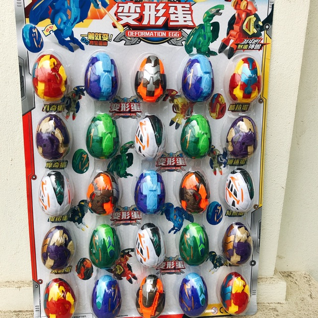 Sỉ vỉ 25 quả trứng siêu nhân biến hình loại nhỏ cực đẹp